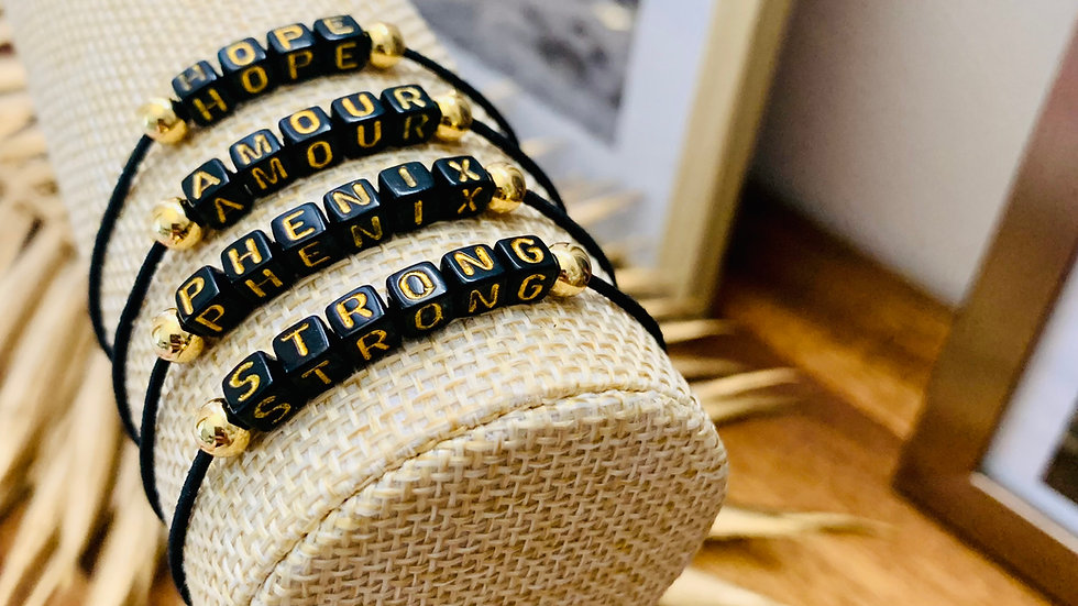Bracelet Rosie noir