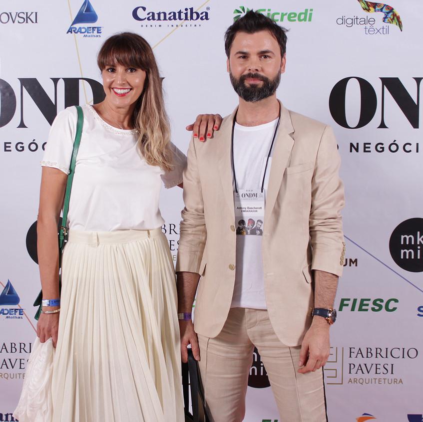 Marta Brancher Palhano e Antony Baschero