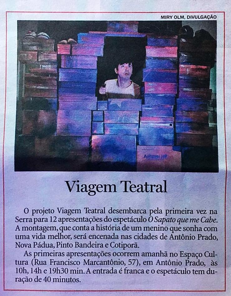 Cliente: Projeto Viagem Teatral