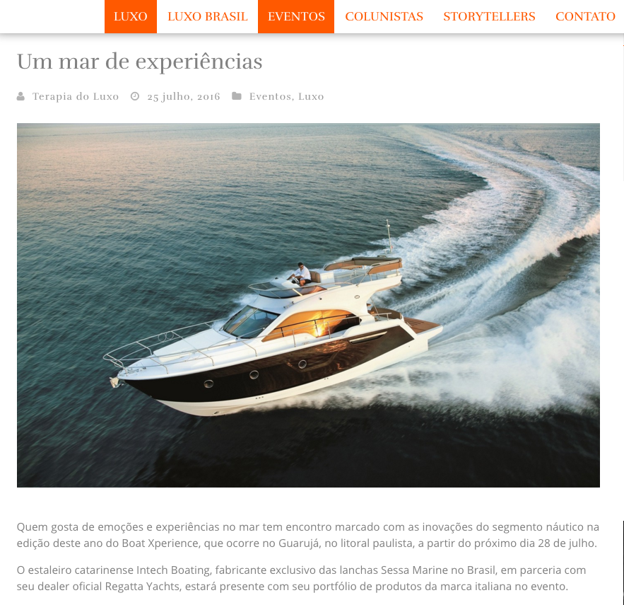 Intech Boating / Sessa Marine Brasil