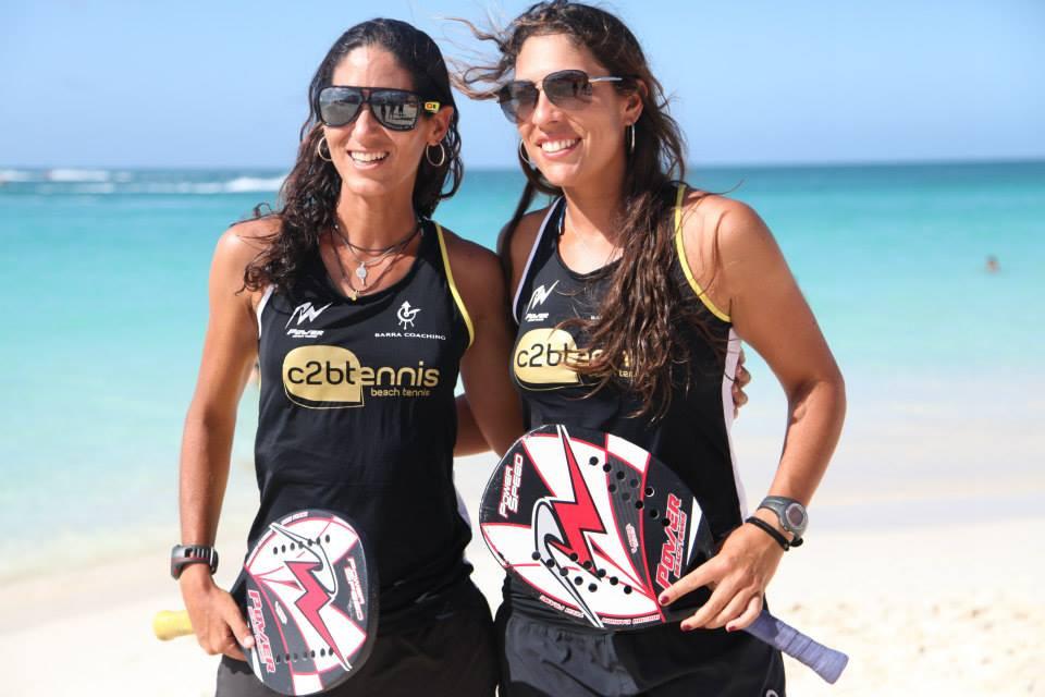 Dupla Joana Cortez e Samantha Barbejan