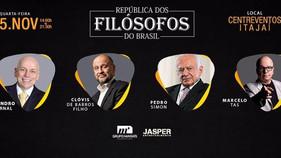 Evento inédito em Santa Catarina confronta as visões de pensadores sobre o comportamento dos governa