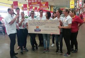 Instituições de Joinville e Blumenau recebem doações do Troco Solidário, do Fort Atacadista