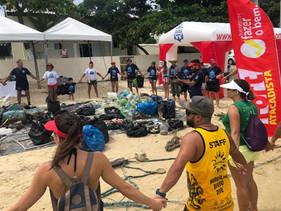 Iniciativa patrocinada pelo Fort Atacadista retirou seis toneladas de lixo da praia Canto Grande, em