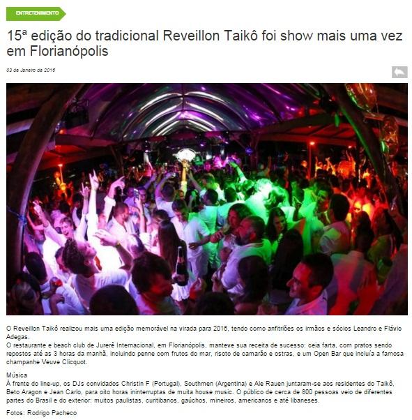 Reveillon Taikô - Acontecendo Aqui