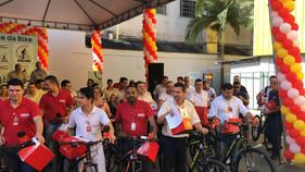 Projeto lançado nesta terça-feira, em Joinville, incentiva o uso de bicicletas como meio de transpor