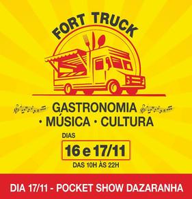 Gastronomia, música e diversão para a família no Fort Truck, em Balneário Camboriú