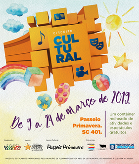 Projeto Circuito Cultural estaciona seu contêiner no Passeio Primavera, em Florianópolis