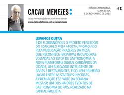 Cardápios da Cidade - Cacau Menezes