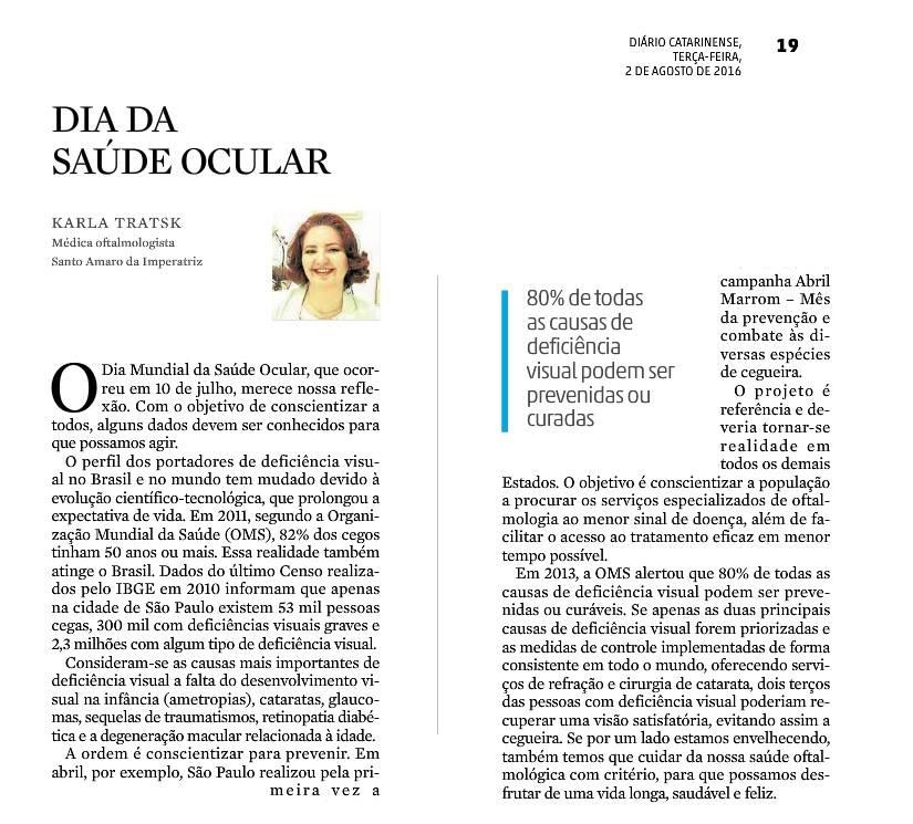 Dra Karla Tratsk - Diário Catarinens
