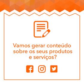 Vamos produzir conteúdo sobre os seus produtos e serviços?