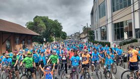 Jaraguá do Sul recebe o tradicional Passeio Ciclístico no feriado do Dia do Trabalho, com sorteio de