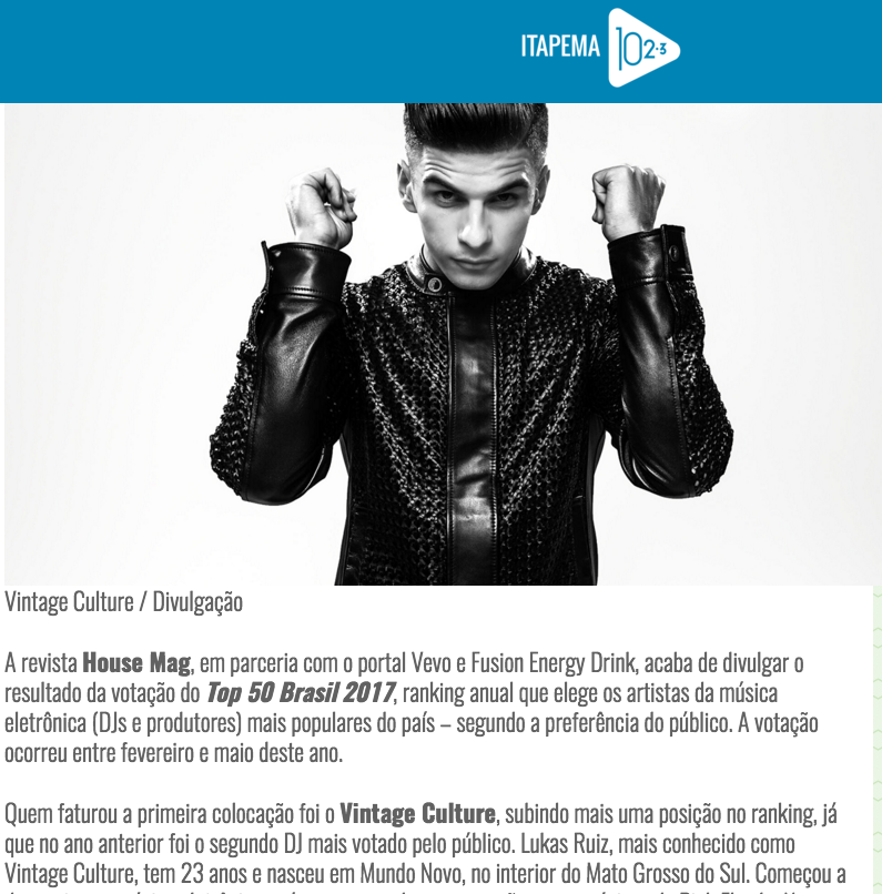 House Mag / Top 50 Brasil