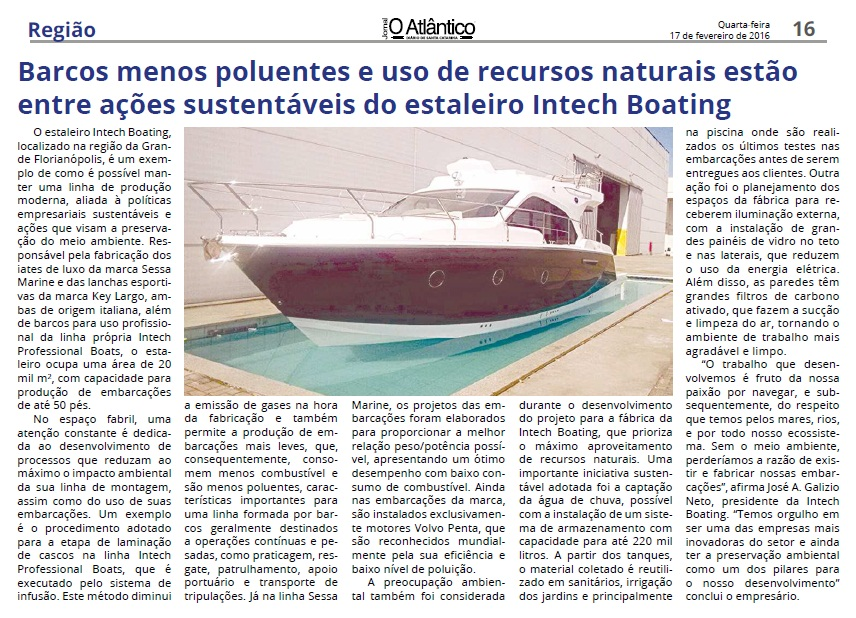 Intech Boating - O Atlântico