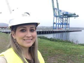 Empresária da Base Contabilidade faz visita técnica ao Porto de Imbituba