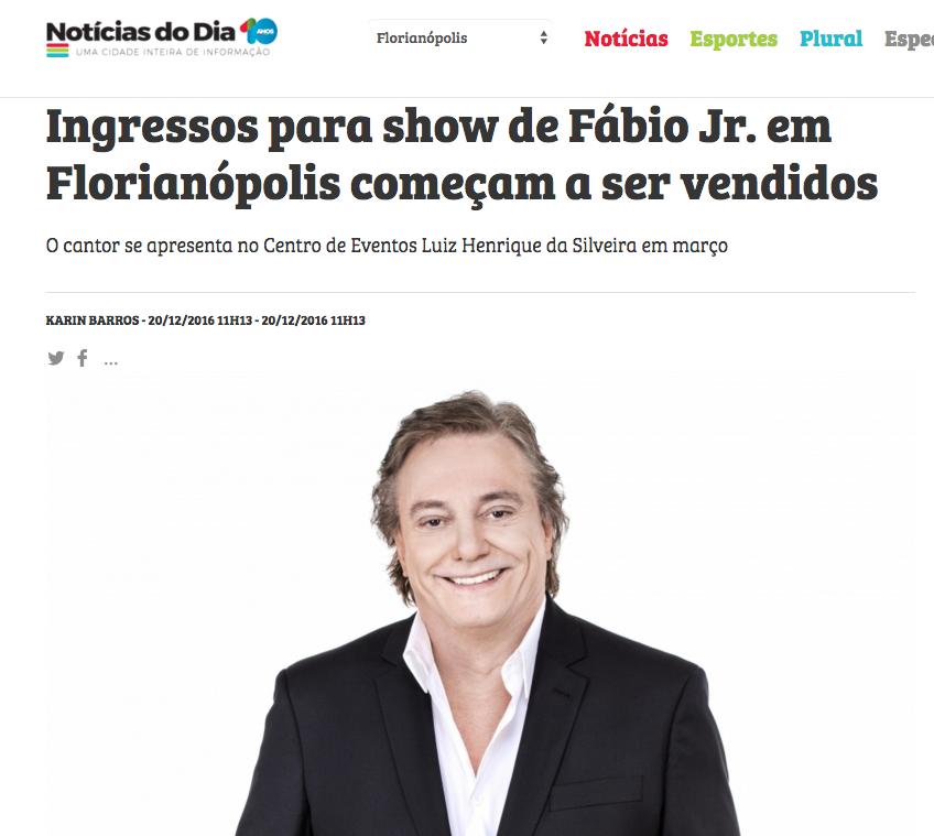Show Fábio Jr (Brave Brazil)