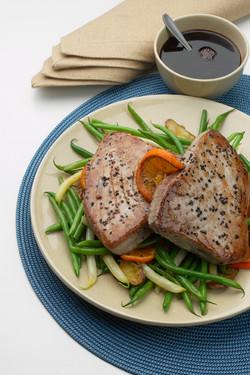 Tuna Steaks with Balsamic Glaze
