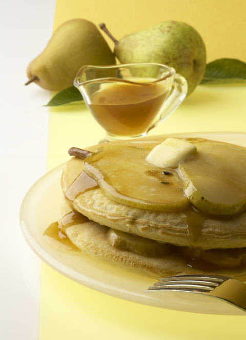 Pancakes with Carmelized Pears