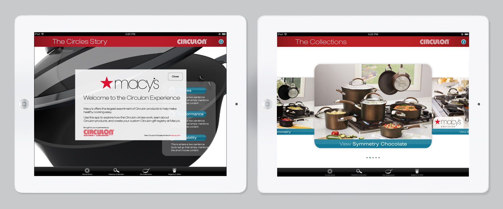 Circulon Product iPad Application