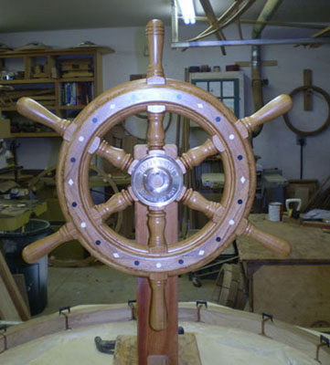 Tarry Knot Wooden Ship Wheel 3 South Shore Boat Works