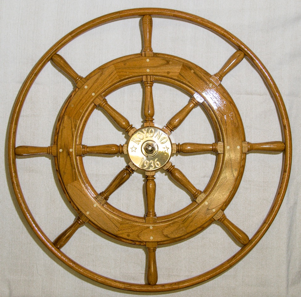 Royono Wooden Ship Wheel by South Shore Boatworks