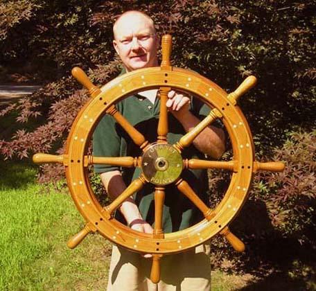 National Heritage Museum Ship Wheel 4