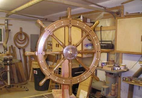 National Heritage Museum Ship Wheel 2