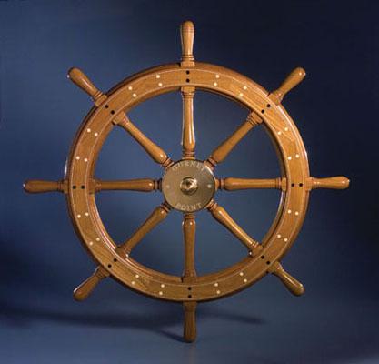 National Heritage Museum Ship Wheel 1