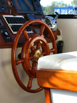 Thorobred Lowell 38 Wooden Ship Wheel by South Shore Boatworks 3