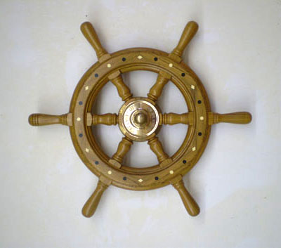Tarry Knot Wooden Ship Wheel 1 South Shore Boat Works