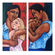 Family Divide Diptych