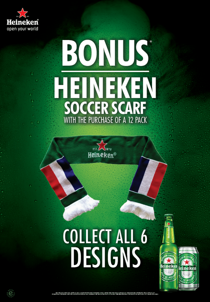 Heineken Soccer Scarf