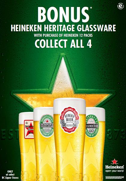 Heineken Heritage Glass