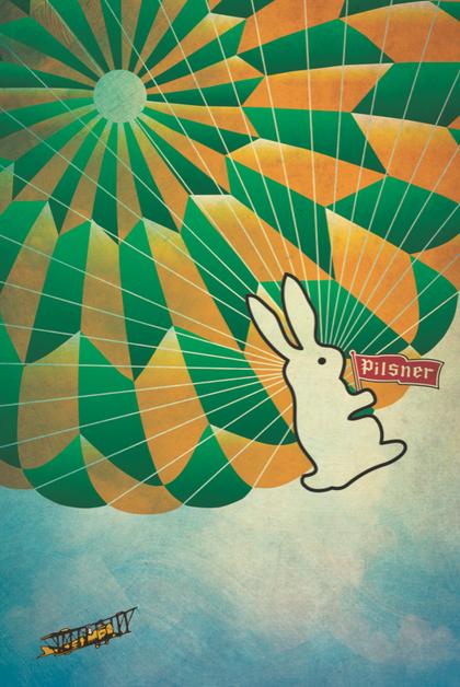 Pilsner Bunny Illustrataion