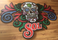 Sol Carved Wall Sign