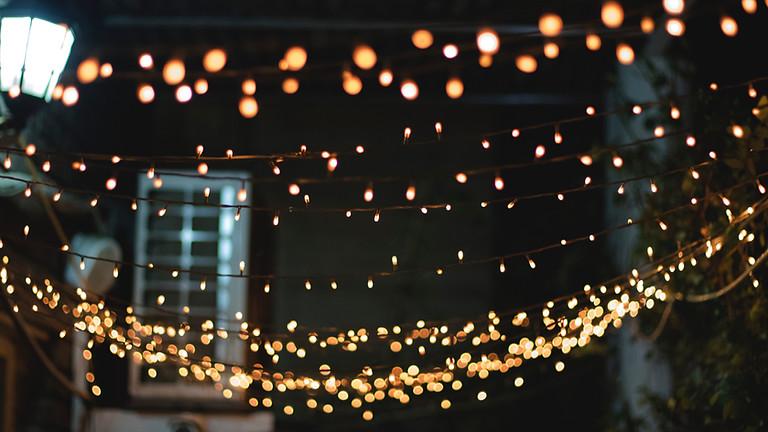 Potton Christmas lights switch on