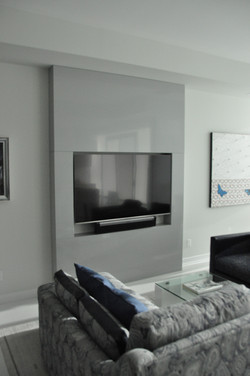 Modern floor to ceiling TV cabinet