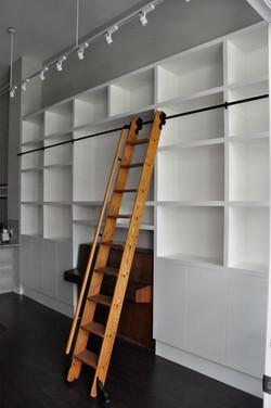 Library-shelving-re-purposed-oak-rolling