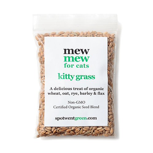 Organic Cat Grass Seed 2.4 oz