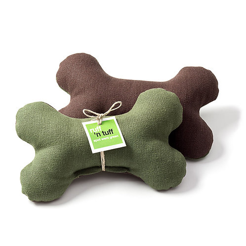 Hemp Bone Toy Green/Brown