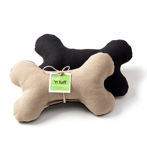 Hemp Bone Toy Tan/Black