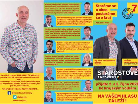 Členové Živých Prachatic kandidují do kraje!