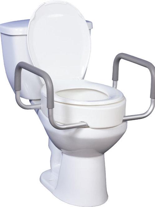 Siège de toilette surélevé de qualité supérieure avec bras amovibles