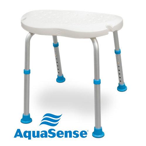 Siège de bain ajustable ergonomique AquaSense sans dossier