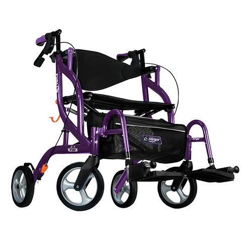 Déambulateur et fauteuil de transport 2 en 1 fusion F20