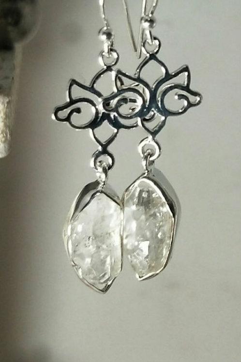 Herkimer Diamond with lotus