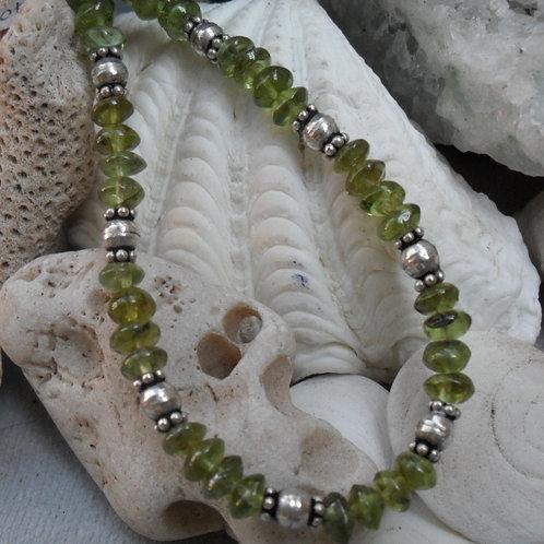 Peridot bracelet