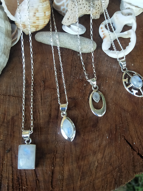 Rainbow moonstones with chains
