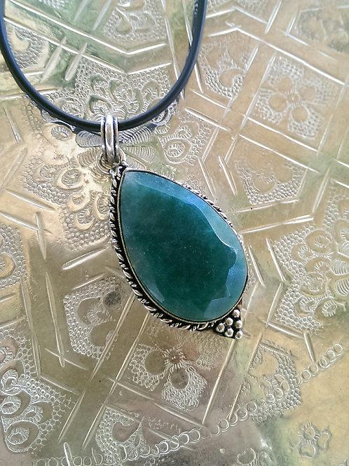 Turquoise coloured stone pendant