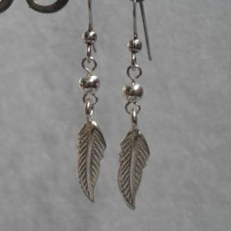 Silver HT Feather earrings